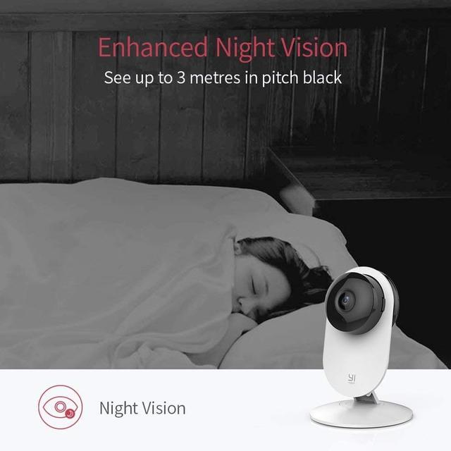 YI Home Camera 1080p AI Powered Baby Monitor FHD Human Detection Security Surveillance Night Vision Cloud International Version 5