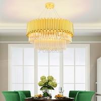 Modern Glass Chandelier Lighting LED Cristal Glass Chandeliers Round Hanging Light Home Hotel Restaurant Indoor Lighting Fixture