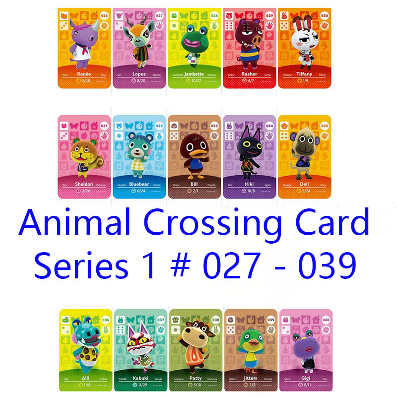 Series 1 #27-39 Animal Crossing Cards Amiibo Card Work For NS Games Series 1 Dropshipping Support Customized Card