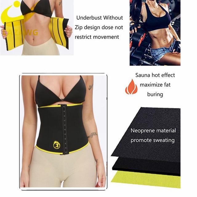LAZAWG Women Waist Trainer Hot Sweat Neoprene Belt Fat Burn Girdle Slimming Strap Body Shaper Slim Tummy Control Waist Cincher 4