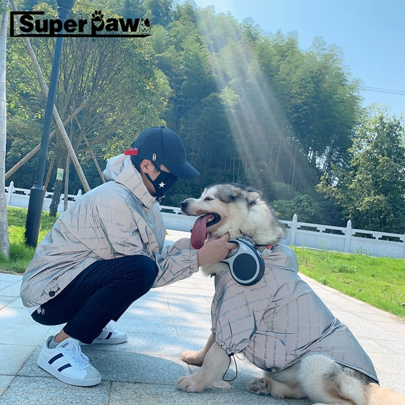 Fashion Dog Reflective Outdoor Jacket Windproof Clothes Parent Child Outfit Pet Hoodie Coat for Small Medium Large Dogs TLC05 in Dog Coats Jackets from Home Garden