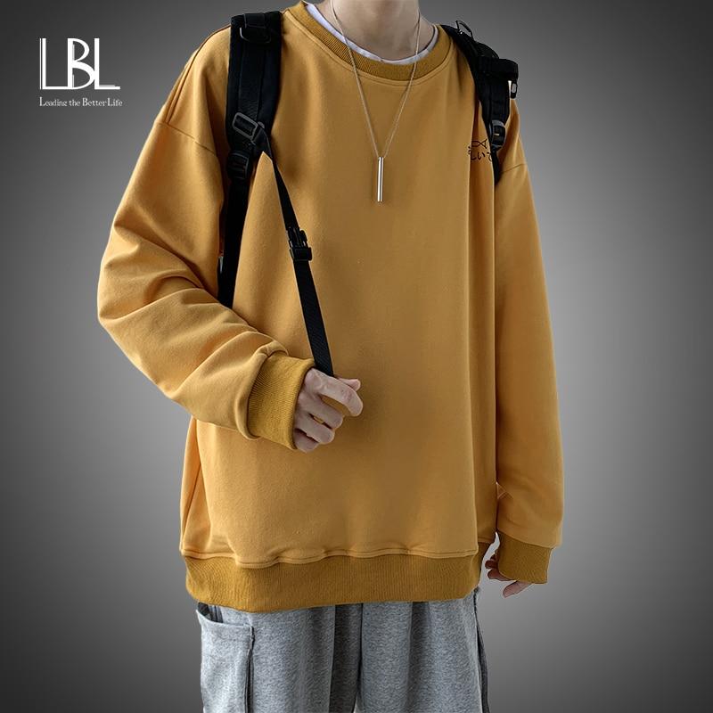 Men Oversized Sweatshirts 2021 Spring Pullover Women's Hoodies Warm Ladies Long Sleeve Casual Hooded Pullover Clothes Sweatshirt