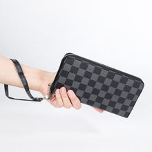 2021 nova bolsa de bolso multi-cartão bolsa de bolso masculino longo zíper bolsa de bolso impresso carteira saco móvel