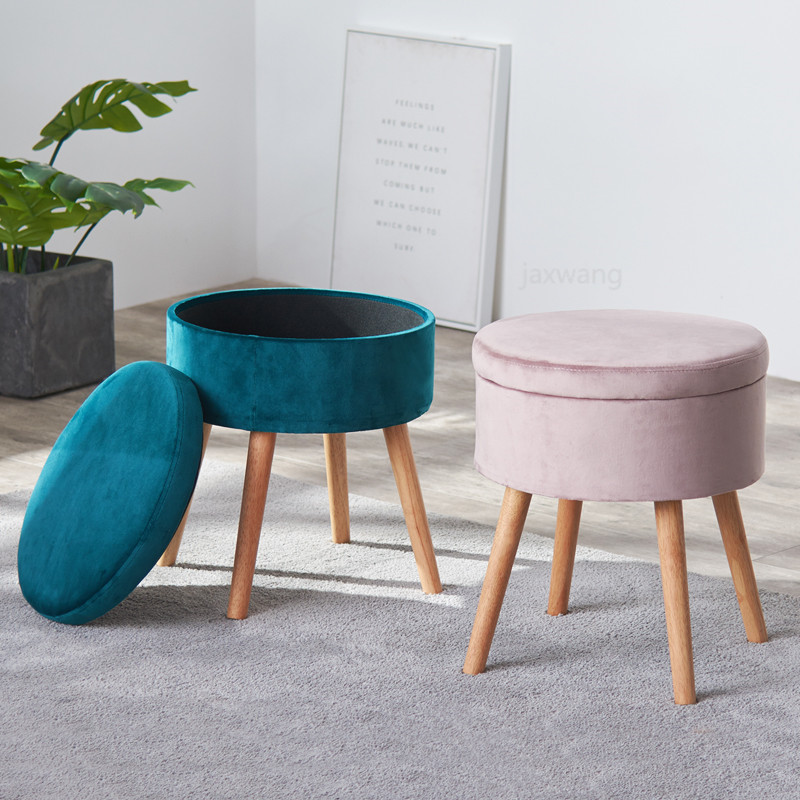 North European Dressing Table Stool Makeup Stool Modern Minimalist Bedroom Storage Stool Shoe Bench Storage Footstool Stools Ottomans Aliexpress