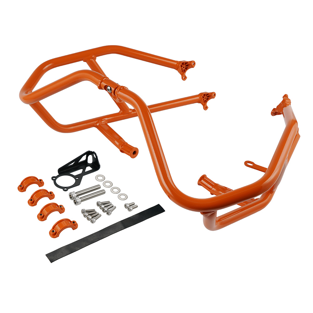 Engine Guard Crash Bars Protector for <font><b>KTM</b></font> 1090 <font><b>1290</b></font> <font><b>Super</b></font> <font><b>Adventure</b></font> R <font><b>S</b></font> L 2017 2018 <font><b>2019</b></font> Stainless Steel Black Orange image
