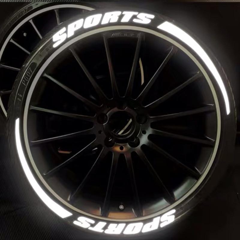 3d adesivos de carro são adequados para pneu carta adesivos noite reflexiva decoração pneu aparência modificação acessórios Adesivos para carro    -