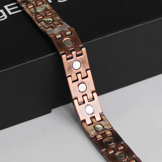 Black pure copper magnetic bracelet