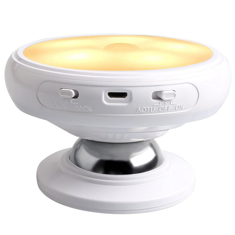 HOT Motion Sensor Night Light, Detachable Magnet Base, USB Rechargeable LED, Human Body Induction 360 Degree Rotation Night Ligh