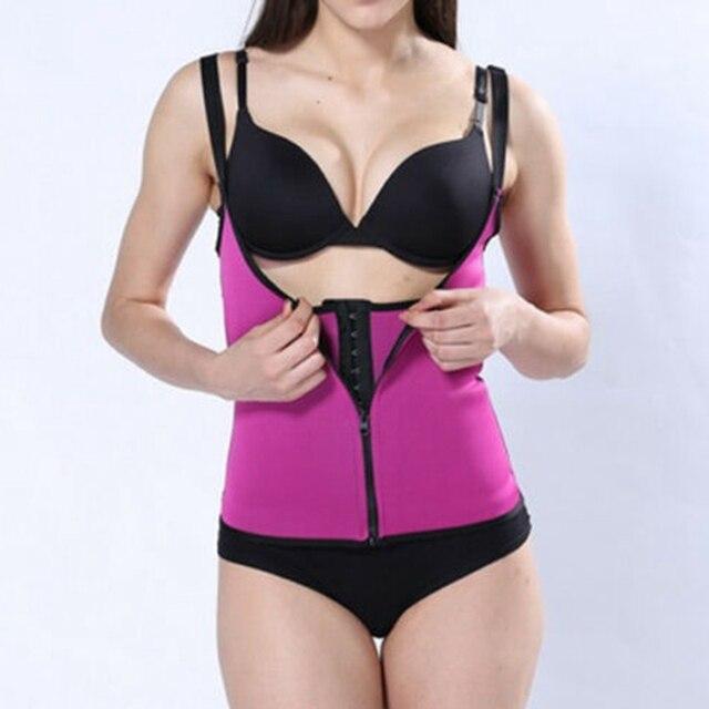 Womens Hot Sweat Sauna Neoprene Body Shaper Slimming Waist Trainer Slim Belt Gym 2