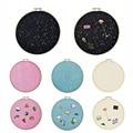 Настенный подвесной значок-брошь, блестящий держатель для доски, коллекция, вышивальный обруч