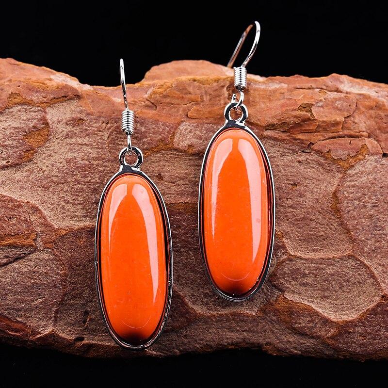 Богемные серьги с оранжевым камнем для женщин 2020 винтажные этнические длинные висячие серьги крючком Китайская бижутерия оптовая продажа ...