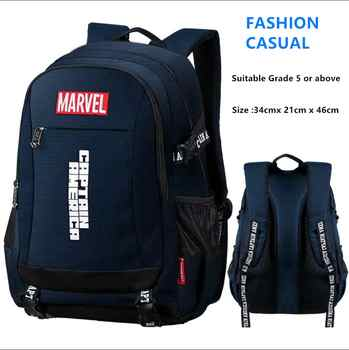 Disney Marvel backpack Captain America ironman children\'s primary school bag big capacity light waterproof bag for teenage boys - Category 🛒 All Category