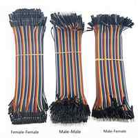 Cable de puente para arduino, cuerda de 10cm con pines macho a macho + macho a hembra y hembra a hembra, modelo Alambre Dupont 40P, 40-120 uds.