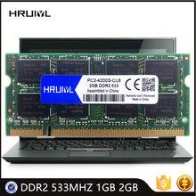 Memória PC2-4200S da ram 1.8v 200 do caderno de hruiyl pino ddr2 533mhz 1gb 2gb alto desempenho módulo sdram da memória do portátil de sodimm novo