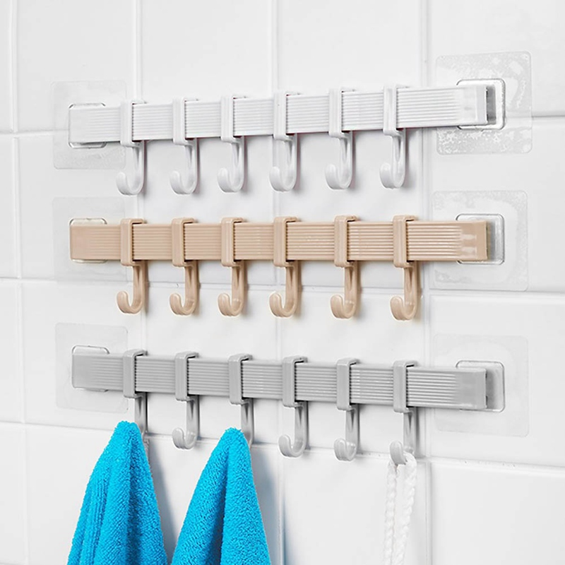 Mutifunctional Wall Hanger Rack Stand Storage Hook Kitchen Bathroom Organizer Hanger Towel Sundries Rack