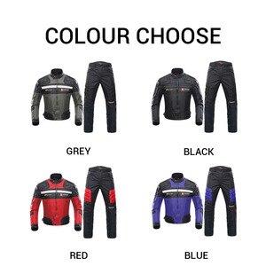 Image 2 - DUHAN Windproof รถจักรยานยนต์ชุดป้องกันเกียร์เกราะรถจักรยานยนต์แจ็คเก็ต + รถจักรยานยนต์กางเกง Hip Protector Moto เสื้อผ้าชุด