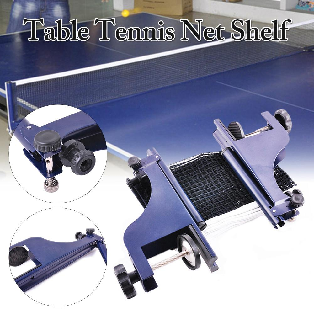 Portable Table Tennis Net And Post Set Collapsible Professional Steel Ping Pong Net Adjustable Post For Training