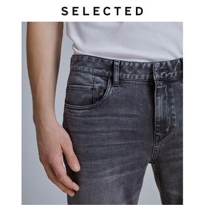 Image 5 - Selecionado masculino fino ajuste estiramento algodão cinza jeans lab