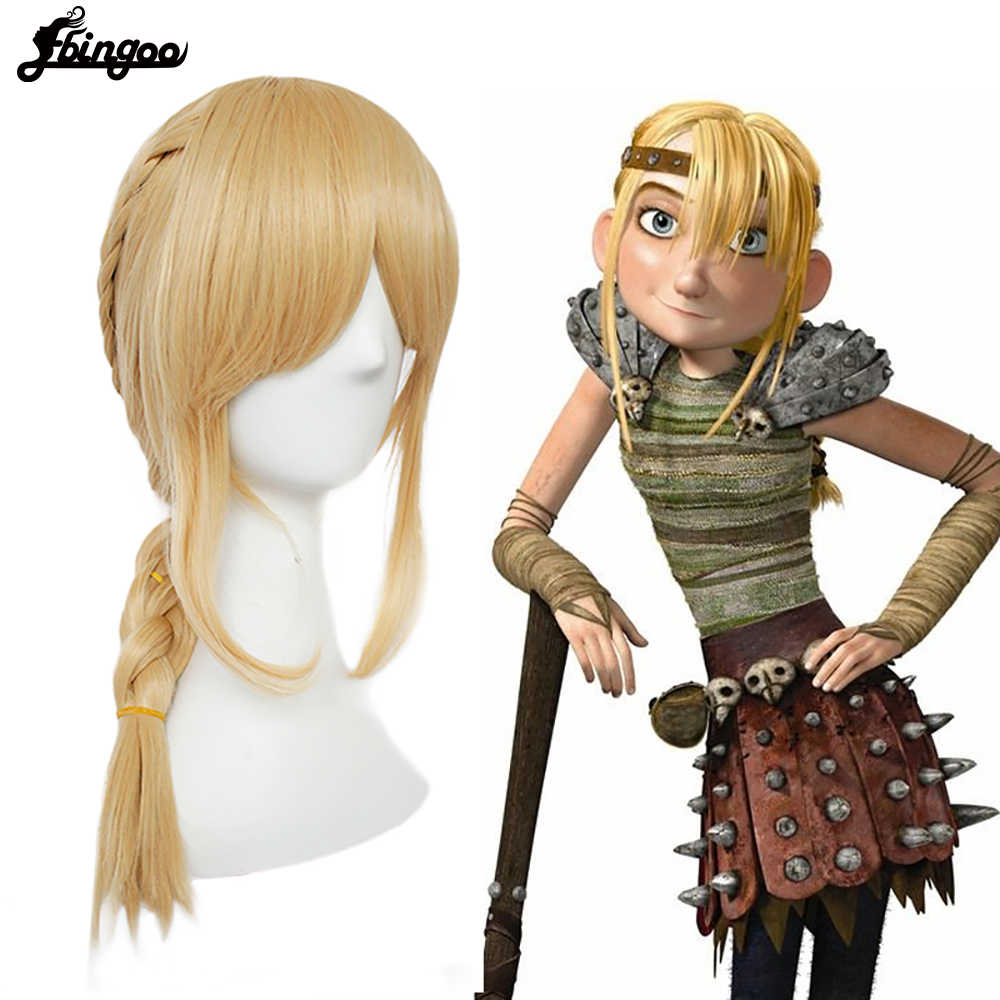 Ebingoo Hair Cap How To Train Your Dragon 2 Astrid Blonde Long Braid Synthetic Cosplay Women Wigs For Halloween Costume Party Synthetic None Lace Wigs Aliexpress