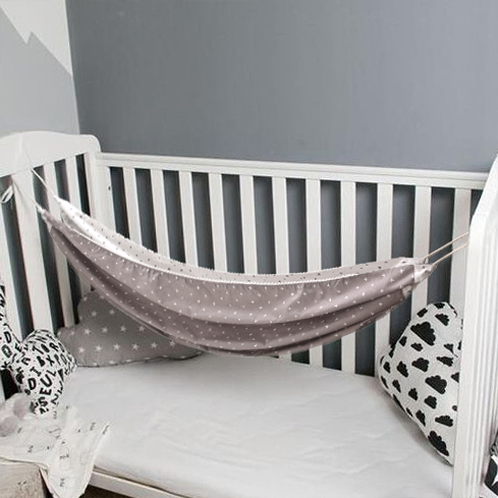 Hebce09e8075a446ba0a91da56059a512S Baby Cotton Hammock Swing for Crib Cot Removable Baby Rocking Chair Sleeping Bed Indoor Outdoor Adjustable Hanging Basket