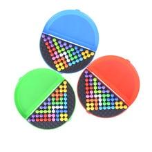 1 juego rompecabezas de cuentas de pirámide clásico rompecabezas Pirámide de coeficiente intelectual de mente lógica juego rompecabezas juguetes educativos para niños