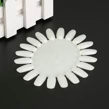 10 pares/set molde de unhas branco claro francês falso acrílico unhas dicas prática roda redonda molde unha arte manicure ferramentas
