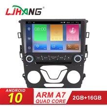 LJHANG автомобильный DVD мультимедийный плеер Android 10 для Ford Mondeo Fusion 2012 2013 wifi gps 2 Din автомагнитола стерео головное устройство видео