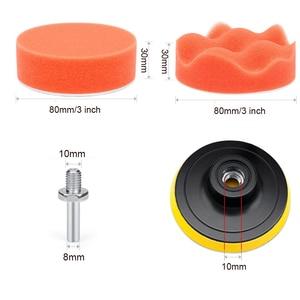 Image 4 - VISBELLA طقم إسفنجة تلميع للسيارة ، وسادة إسفنجية ذاتية اللصق لإصلاح المصابيح الأمامية للجسم ، 3 بوصات