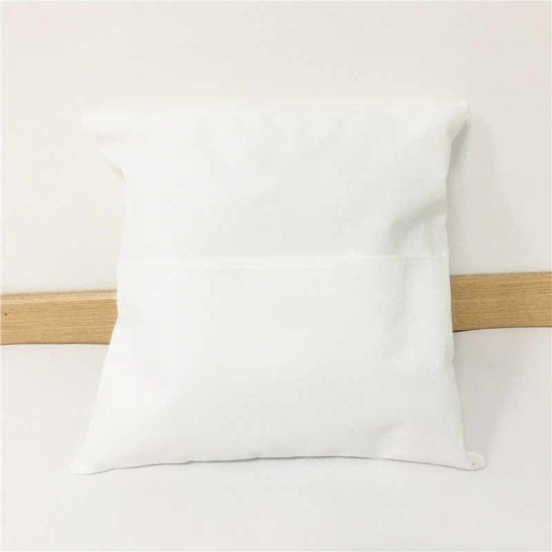 USA 50pcs Linen Sublimation Blank Pillow Case Sofa Car Waist Cushion Cover