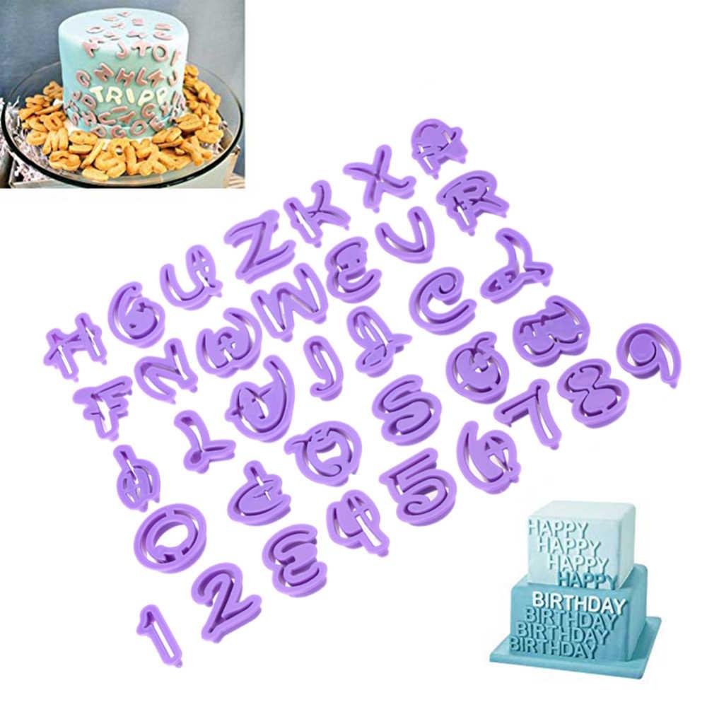 36 шт. числа буквы алфавита в форме режущие инструменты для печенья, мастики формы торта кондитерские формы для печенья Сахарная паста декорирование выпечки инструмент