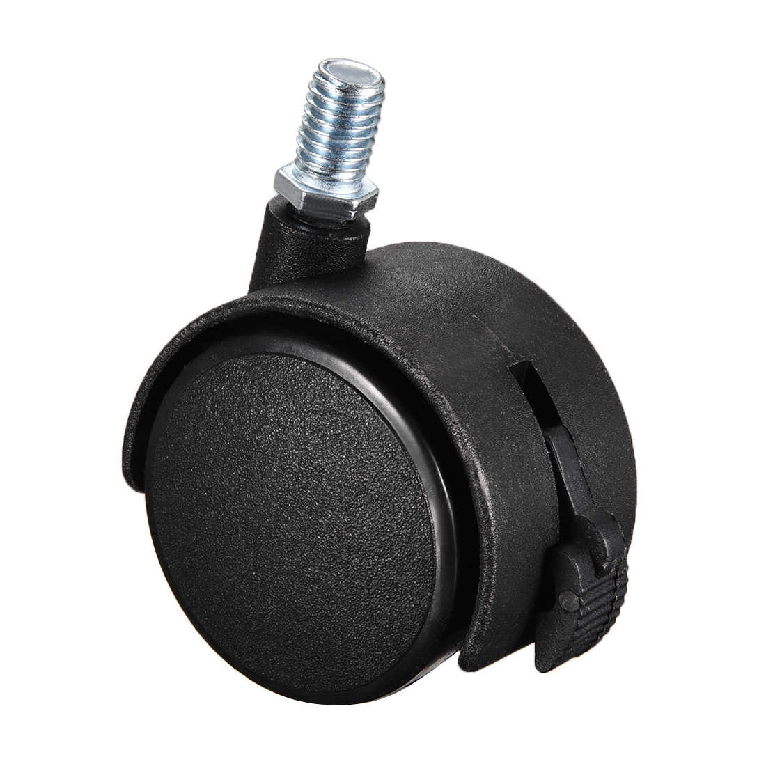 uxcell 4 Pcs 1.5 Inch Swivel Caster Wheels Nylon 360 Degree Threaded Stem Caster Wheel 33lb Capacity M8 x 20mm