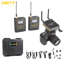 Deity Connect UHF Dual Wireless Lavalier Microphone Systerm Lav Interview Mic 2 Transmitters & 1 Receiver for DSLR Video Camera(China)