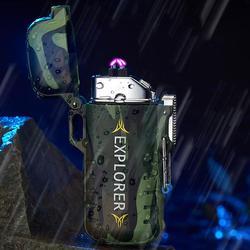 Zewnętrzna zapalniczka z ładowarką USB wiatroszczelna wodoodporna bezpłomieniowa podwójny łuk zapalniczka elektryczna