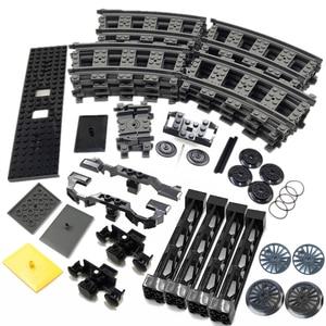 Technic Train Wheel Base Cover Rail Girder MOC Parts Kid Building Blocks DIY Toys Compatible with 10254 Technic City Train(China)