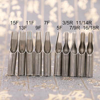 10 unids/set de acero inoxidable de tatuaje punta para boquilla para agujas Kit del tatuaje tatuajes líquido agarre temporal suministros de belleza
