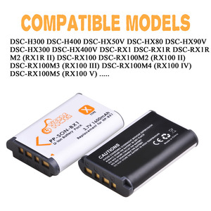 Image 3 - 4 Uds. De batería y NP BX1 NP BX1 de 1600mAh, Cargador USB LED con tipo C para Sony DSC RX1 RX100 M3 M2 RX1R WX300 HX300 HX400 HX50 HX60