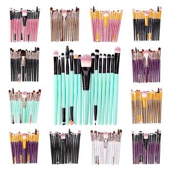 15 pçs conjunto de escova de maquiagem cosmetict maquiagem para rosto compõem ferramentas mulheres beleza profissional fundação blush eyeshadow consealer 1
