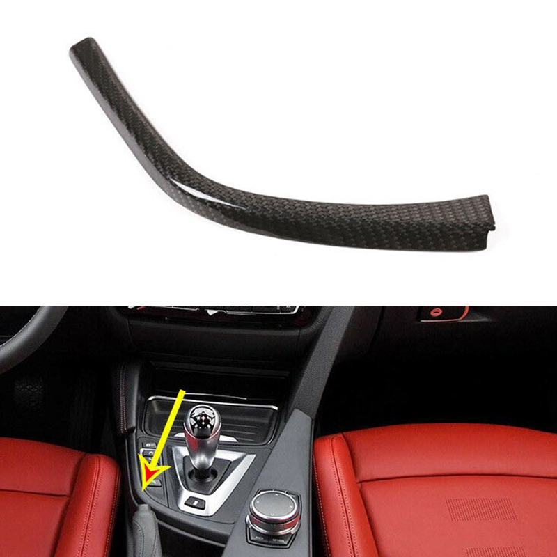 Beler Carbon Fiber Gear Shift Panel L Shape Cover Trim Side Strip Fit For BMW M3 M4 F80 2014 2015 2016 2017 2018