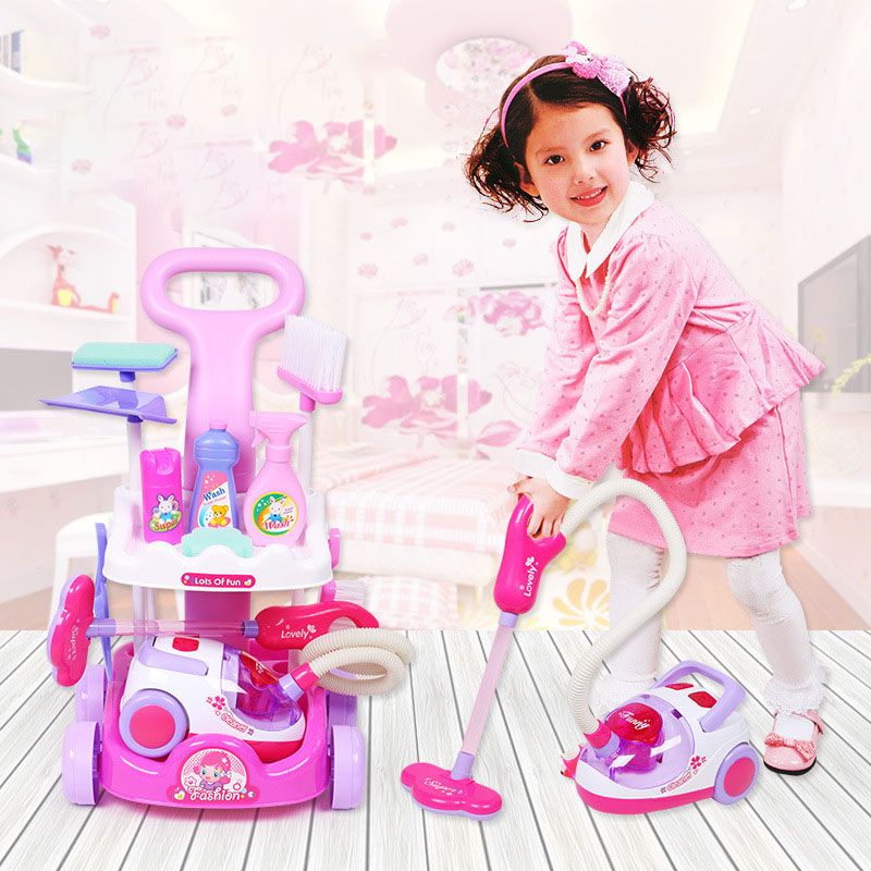 Children's Set Home Simulated Carriage Cleaning Tool Vacuum Cleaner Small Home Appliances Toys Tremble Small Toys