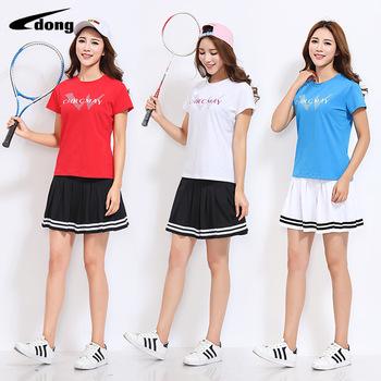 Damska koszulka tenisowa w dużych rozmiarach krótka spódnica spódnica Culottes kwadratowy taniec fitness ćwiczenia ceremonia otwarcia odzież lato tanie i dobre opinie Jingdong Printed Others Beijing