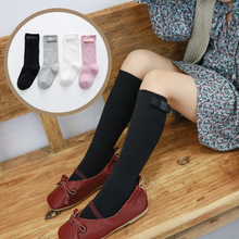 Baby Kids Socks Hairball Child Long Knee Sock For Girls Child Candy Color Toddler Socks