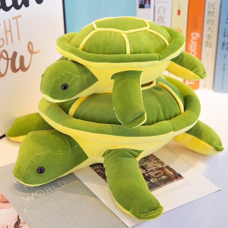 30cm Cute Soft Tortoise Toys Green Plush Sea Turtle Cushion Pillow Toys Kawaii Soft Animal Baby Doll Children Birthday Gifts