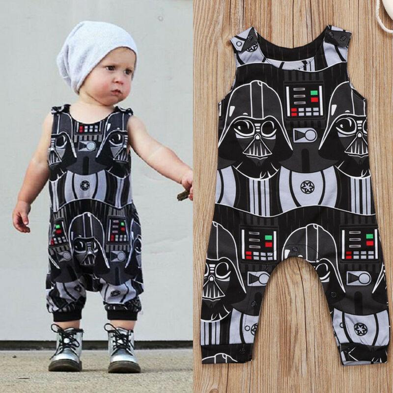 Модный комбинезон Goocheer для маленьких мальчиков, комбинезон без рукавов с рисунком «Звездные войны», одежда для малышей