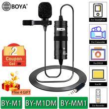 BOYA BY M1 BY M1DM BY MM1 Lavalier Microfono della Macchina Fotografica Video Recorder per iPhone Smartphone Canon Nikon DSLR Videocamera Zoom pro