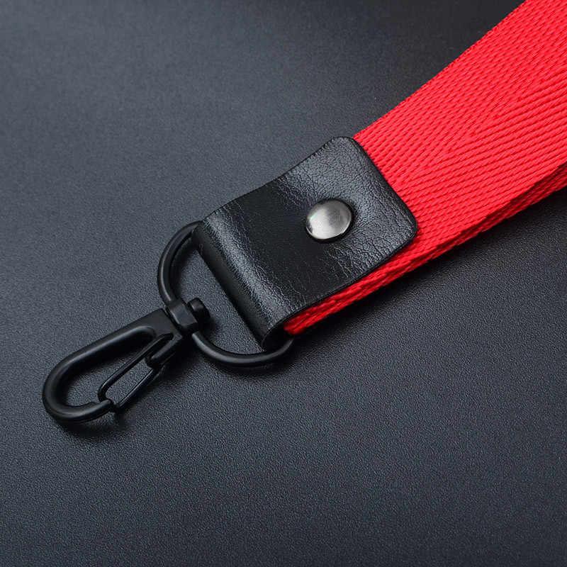 8 kolorów smycz poliestrowa do kluczy karta identyfikacyjna usb do telefonu komórkowego kij moda krótki pasek-uchwyt do telefonu odporna na zużycie lina uniwersalna