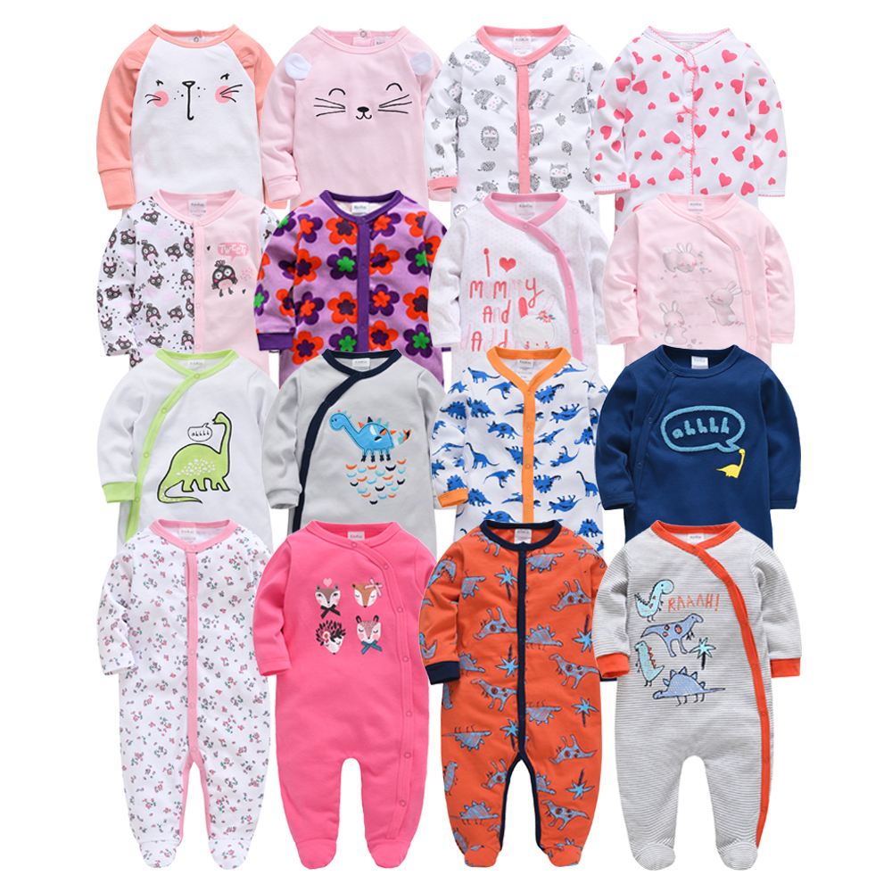 2019 New Baby Sleepers Cotton Pijamas Bebe Newborn Baby Girl Boy Clothes Robe Bebe 3 6 9 12 Month Infant Rompers Clothing