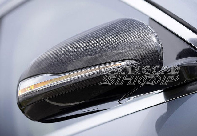 Real Carbon Fiber Mirror Covers 1pair For Mercedes-Benz W205 C-Class 2014UP  M104M 1