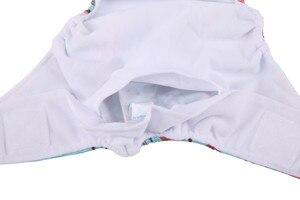 Image 4 - [Sigzagor]5 fraldas de pano de bolso do bebê fraldas gancho loop ampla cintura listra guias