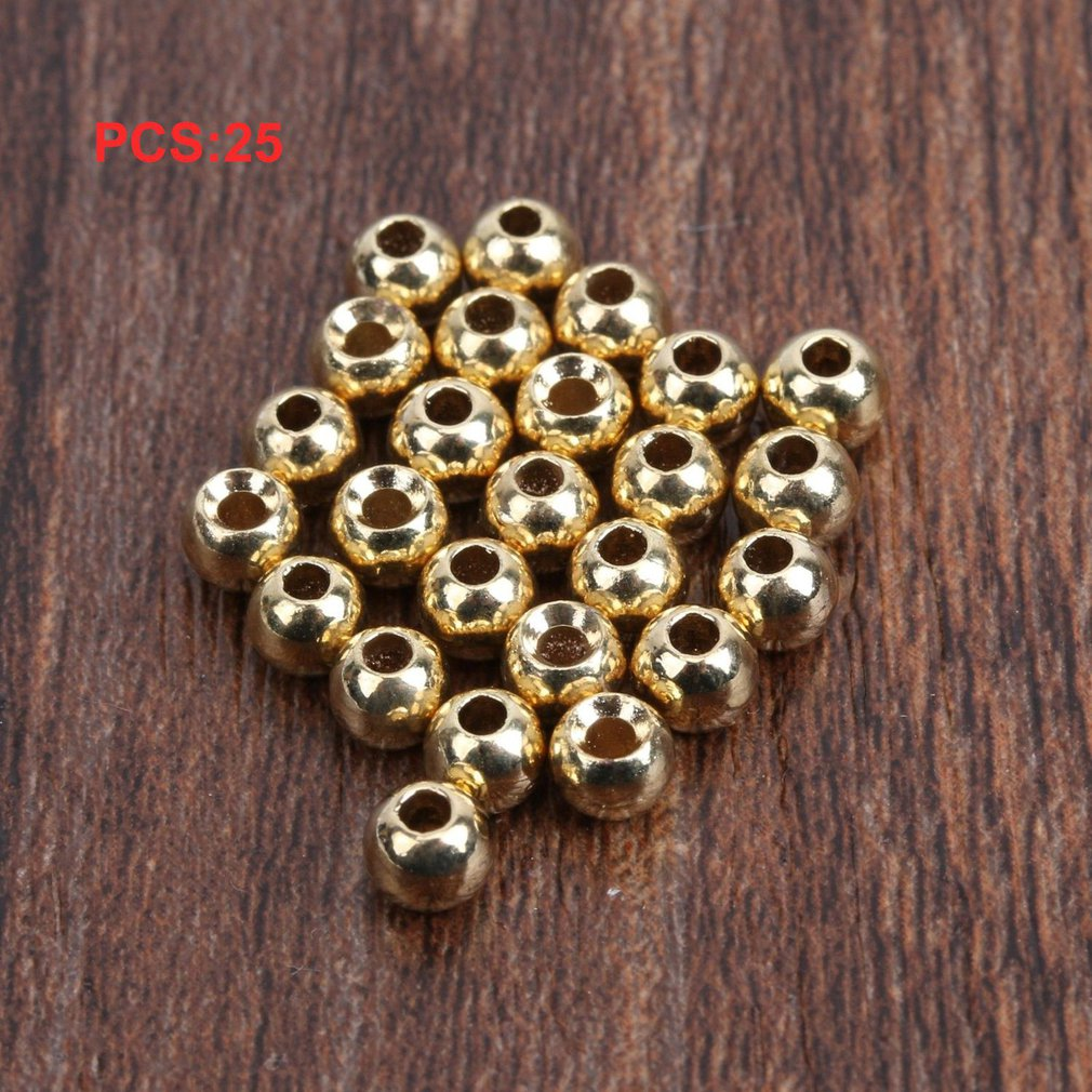 25pcs Tungsten Slotted Fly Tying Head Beads Nymph Head Ball Beads Fly Tying Materials 4.6mm NEW