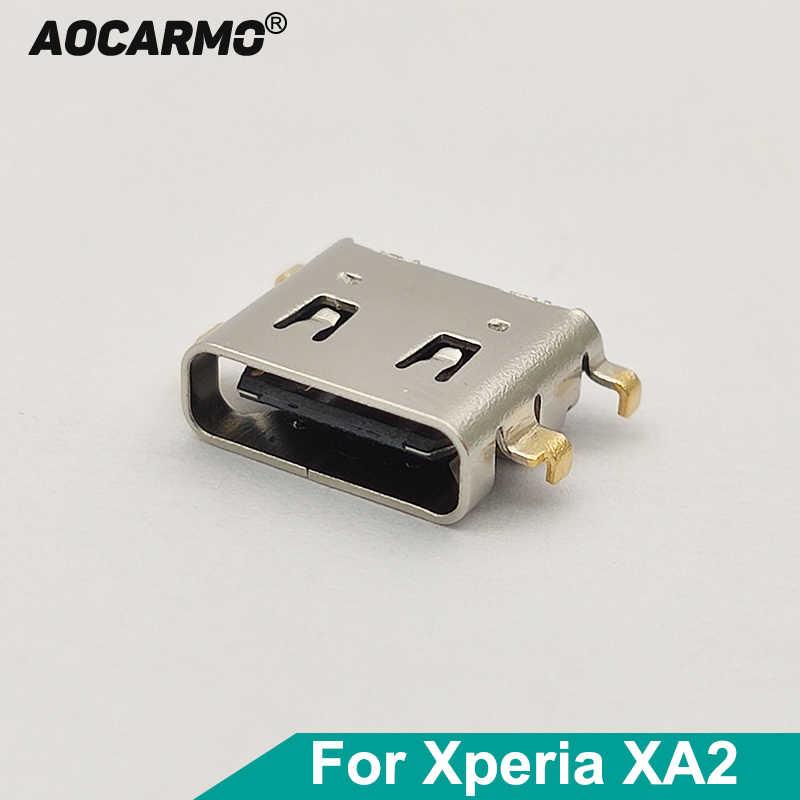 Port de chargeur de charge USB Aocarmo type-c pour Sony Xperia XA2 câble flexible connecteur de quai pièce de rechange H3113 H4113